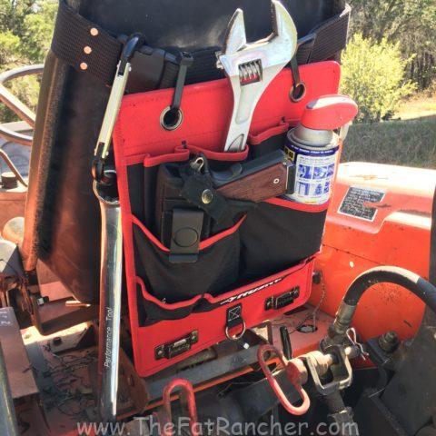 Husky tool holder on tractor.